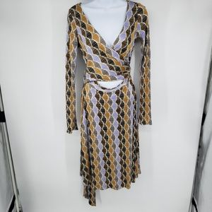 Issa London Dress Wrap Around Obi Multicolor Fan